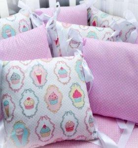 Бортики в кроватку для младенцев