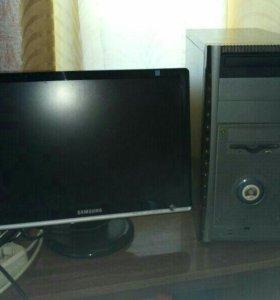 Системный блок питания и монитор