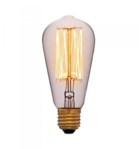Лампа накаливания E27 60W колба прозрачная 053-228