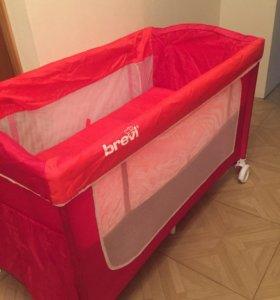 Манеж-кровать brevi