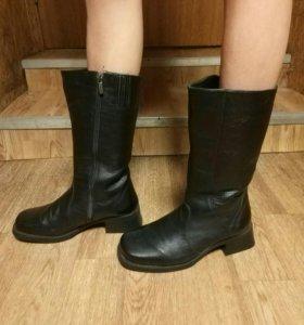Новые кожаные зимние форменные сапоги