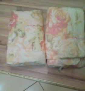 Одеяла 2 шт, 1,5 спалки