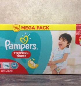 Памперсы-трусики Pampers, размер 5, 96 штук