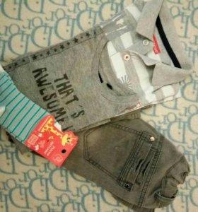 Одежда для мальчика. Джинсы.2 футболки+носочки