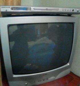 Телевизор LG + DVD-плеер
