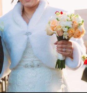 Накидка к свадебному платью