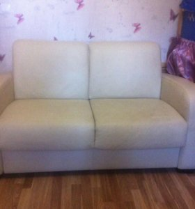 Кожаный 2-х местный диван, Lottorp Икея
