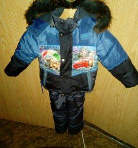 Комбинезон зимний для мальчика возраст год и два г