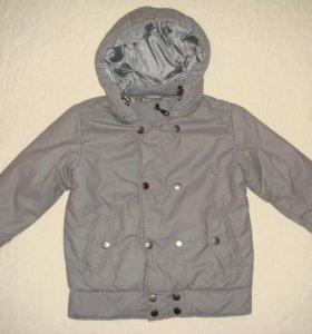 Новая утепленная куртка, р.104-110