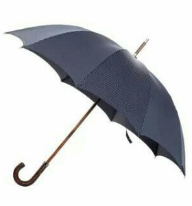 Зонт мужской чёрный трость полуавтомат