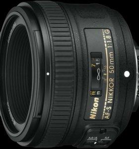 Объектив Nikon AF-S 50mm F1.8