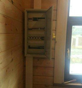 Электрика, электромонтаж, установка счетчика.