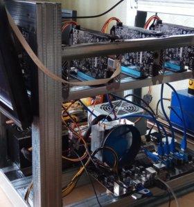 Майнинг ферма 4х RX 560 + процессор FX-8320E
