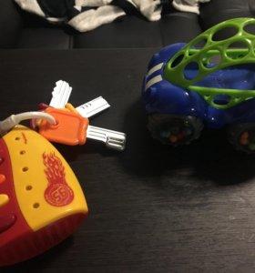Игрушки oball и ключи тачки