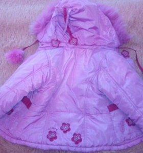 Куртка на девочку 2-3 года