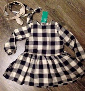Новое платье в клетку H&M