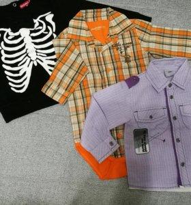 Рубашки и бомбер- скелетон для мальчика