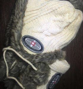 Зимние шапка и шарф.