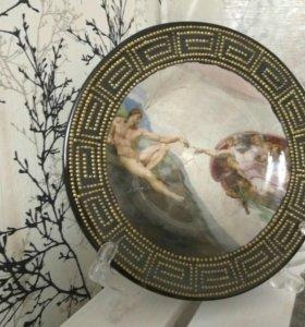 Коллекционная тарелка ручной работы