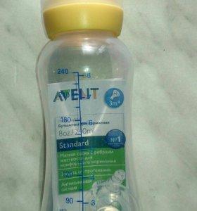Бутылочка Philips Avent с двумя сосками