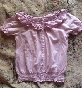 Светло- розовая блузка