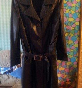 Пальто женское (экокожа)