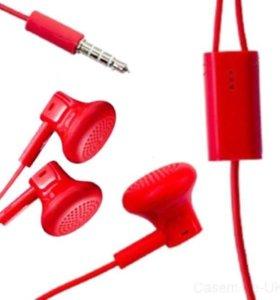 Наушники Nokia, красные.