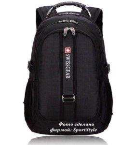 Новый Фирменный рюкзак SwissGear. USB+AUX+Чехол