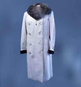 Дубленка Снегурочка 50-52 р овчина, мех чернобурка