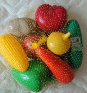 Новые набор продуктов овощи 9 шт