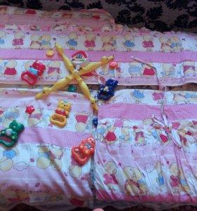 Бортики для кровати + балдахин