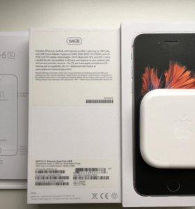 Коробка и наушники EarPods iPhone 6s 64gb