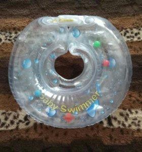 Круг на шею для купания+ковшик пластик