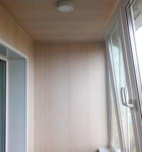 Отделка балконов под ключ.