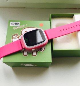 Smart Baby Watch G72 - умные детские часы GPS.Pink