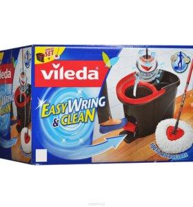 vileda набор для уборки: швабра + ведро