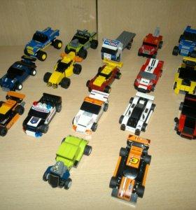 17 машинок Lego Racers