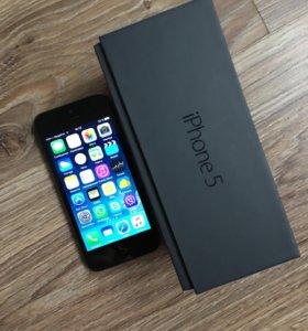 IPhone 5 16Gb black оригинал + в подарок 2 чехла