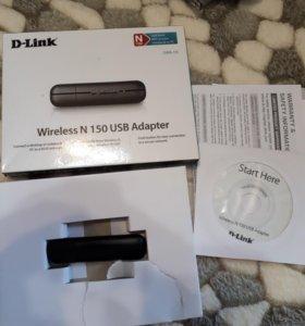 Адаптер D-Link wireless n 150 sub adapter