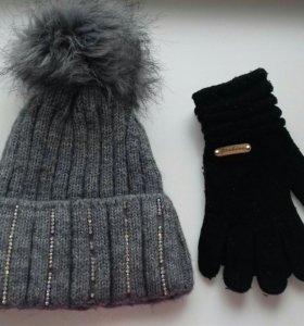 Шапка+перчатки