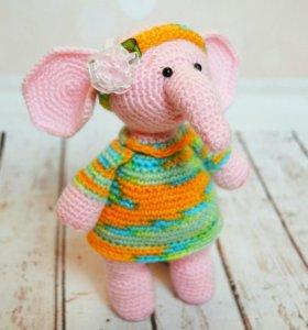 Вязаная игрушка слон(в наличии! )