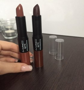 Помада+блеск для губ 🍒mac matte lipgloss&lipstick