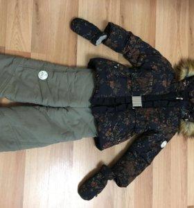 Зимний костюм на девочку 4-5 лет.