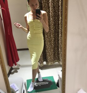 Костюм юбка + топ на пуговицах