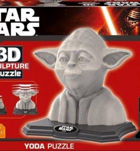 3D Sculpture puzzle Star Wars Yoda