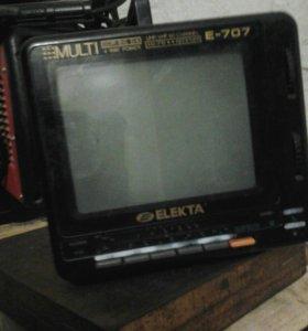 Теле+радио приемник чб 12×220в в рабочем сост,
