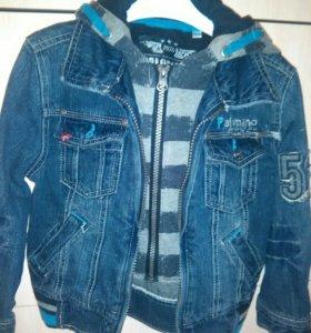 рр 98-104 джинсовая куртка