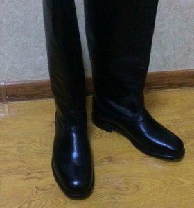 Кожаные сапоги(хром)