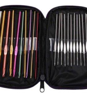 Крючки для вязания 22 шт. в чехле