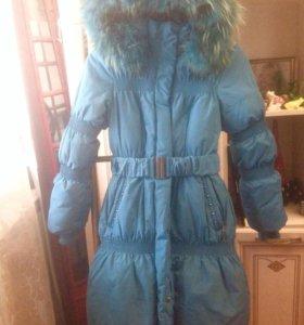 Зимнее пальто зимняя куртка девочке 146